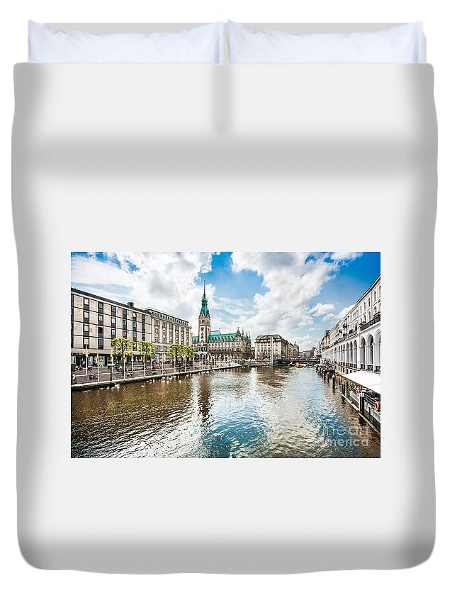 Hamburg Duvet Cover featuring the photograph Hamburg by JR Photography