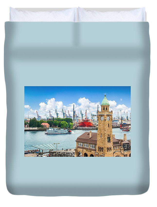 Hamburg Duvet Cover featuring the photograph Hamburg Speicherstadt by JR Photography