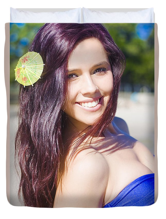 Attractive Duvet Cover featuring the photograph Hawaiian Girl In Hawaii by Jorgo Photography - Wall Art Gallery