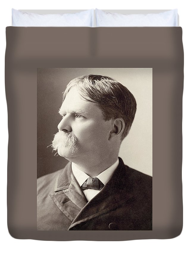 1885 Duvet Cover featuring the photograph Henry Watterson (1840-1921) by Granger