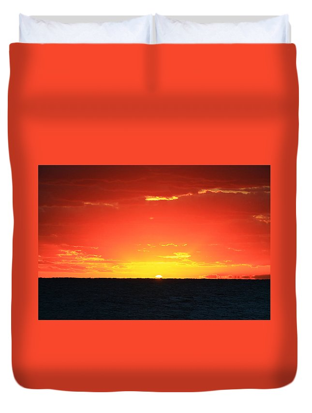 Jupiter Duvet Cover featuring the photograph Here Comes The Sun by Catie Canetti