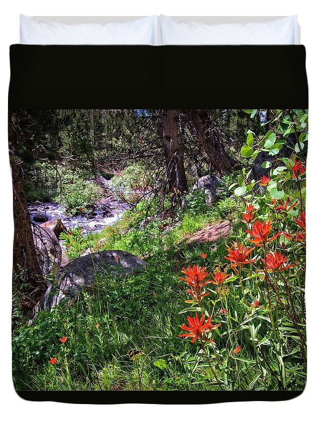 High Country Duvet Cover featuring the photograph High Country Wildflowers 2 by Lynn Bauer