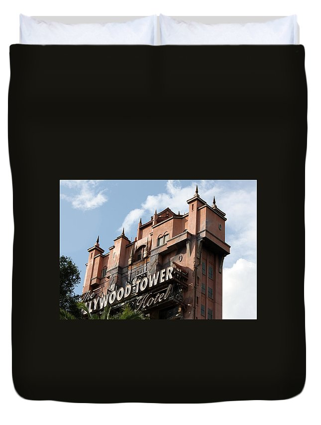 Disney Duvet Cover featuring the photograph Hollywood Tower by David Nicholls