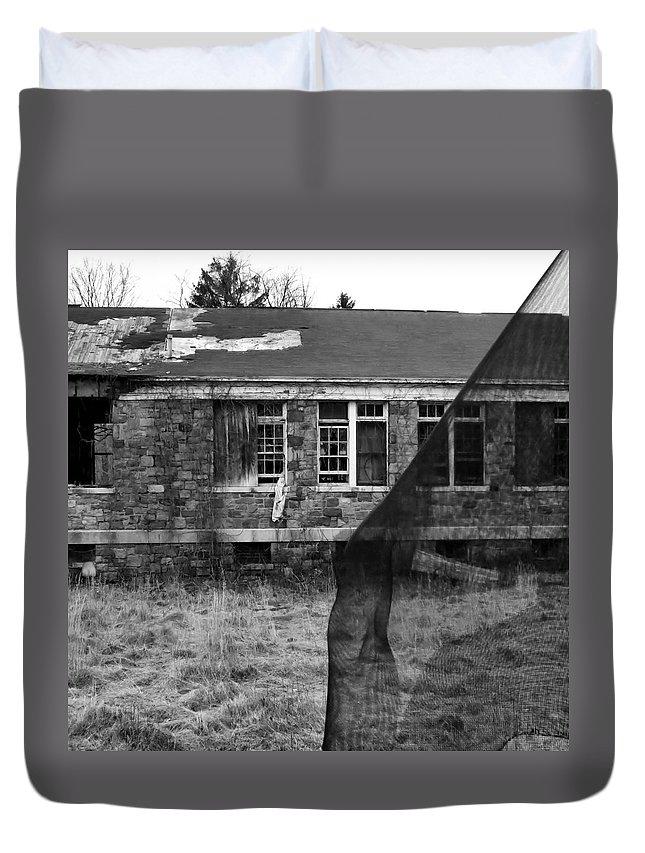 Haunt Duvet Cover featuring the photograph Honey Im Home by Art Dingo