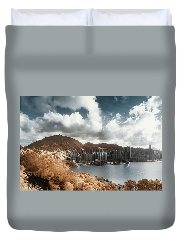 Tranquility Duvet Cover featuring the photograph Hong Kong by D3sign