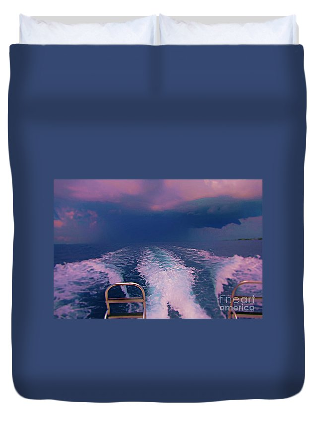 Impending Storm Duvet Cover featuring the photograph Impending Storm by John Malone