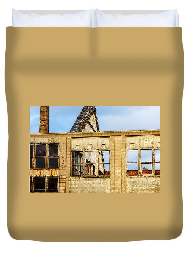 Ancient Duvet Cover featuring the photograph Industrial Building by Nick Biemans