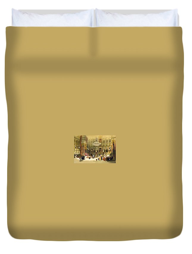 Greek Duvet Cover featuring the photograph Inside The Church Of The Holy Sepulchre by Munir Alawi