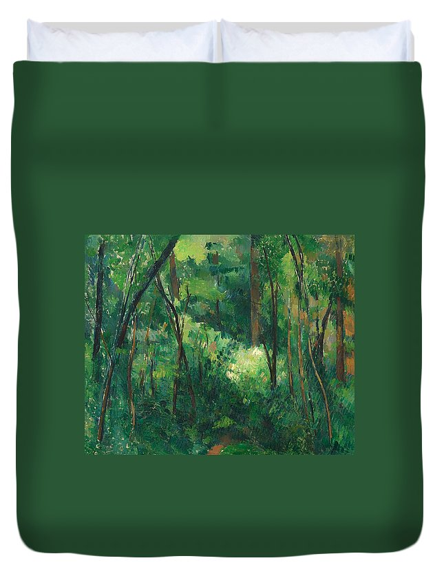 Painting Duvet Cover featuring the painting Interior Of A Forest by Mountain Dreams