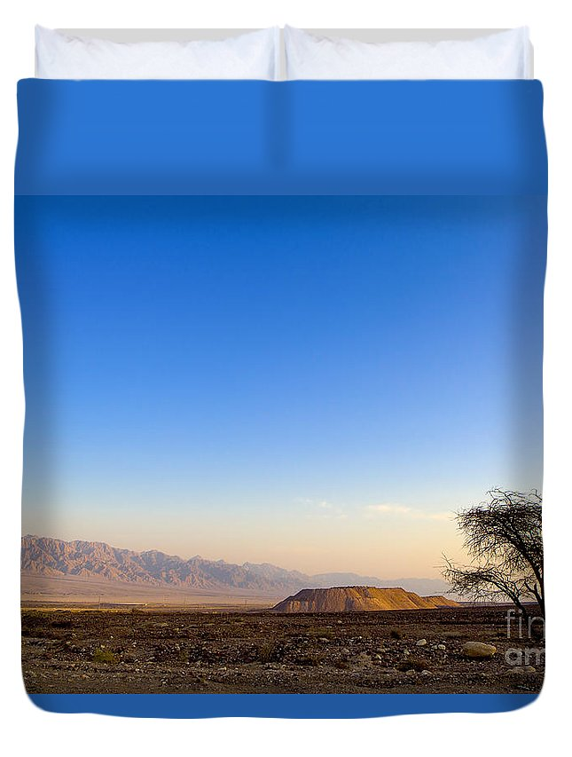 Israel Duvet Cover featuring the photograph 1-israel Negev Desert Landscape by Nir Ben-Yosef