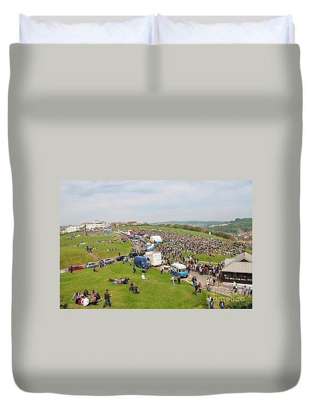 Jack Duvet Cover featuring the photograph Jack In The Green Festival 2014 by David Fowler
