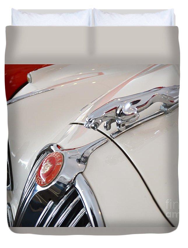 Jaguar Duvet Cover featuring the photograph Jaguar Emblem by Pamela Walrath