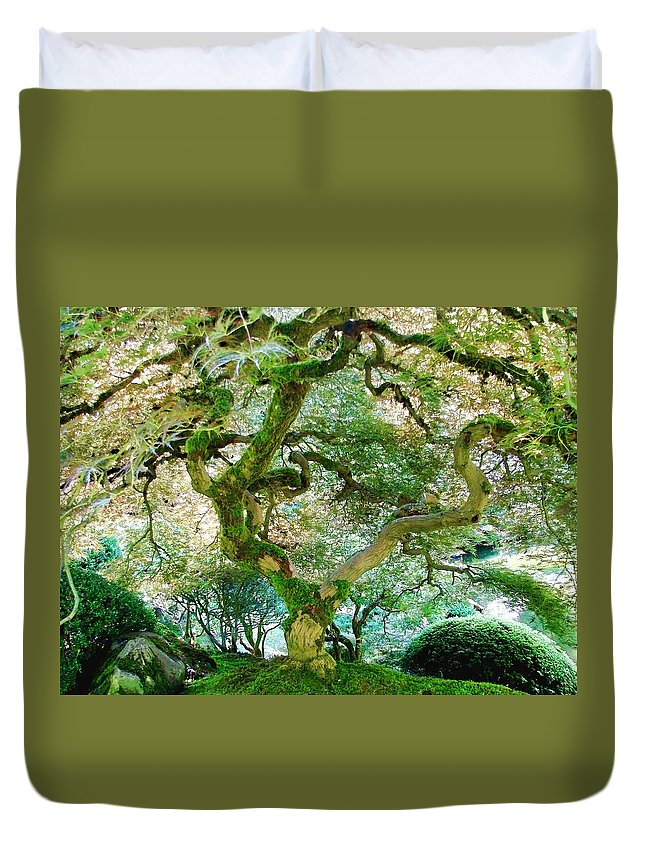Japanese Maple Tree Duvet Cover featuring the photograph Japanese Maple Tree by Athena Mckinzie