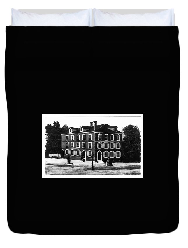 1776 Duvet Cover featuring the painting Jefferson's House, 1776 by Granger