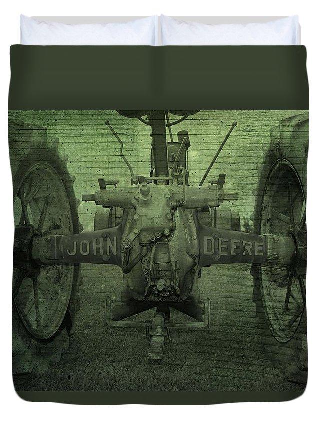 John Deere Duvet Cover featuring the photograph John Deere by Dan Sproul