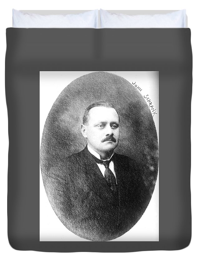 1910 Duvet Cover featuring the photograph John Flammang Schrank (1876-1943) by Granger