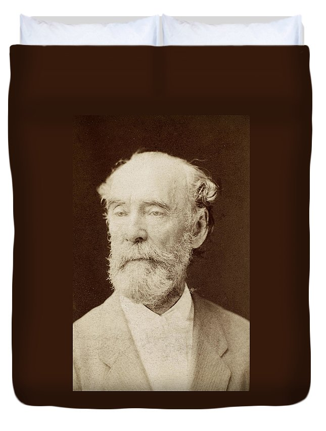 19th Century Duvet Cover featuring the photograph John Wise (1808-1879) by Granger
