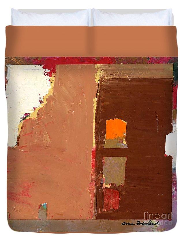 Landscape Duvet Cover featuring the painting Jordan Park 512 by Allan P Friedlander