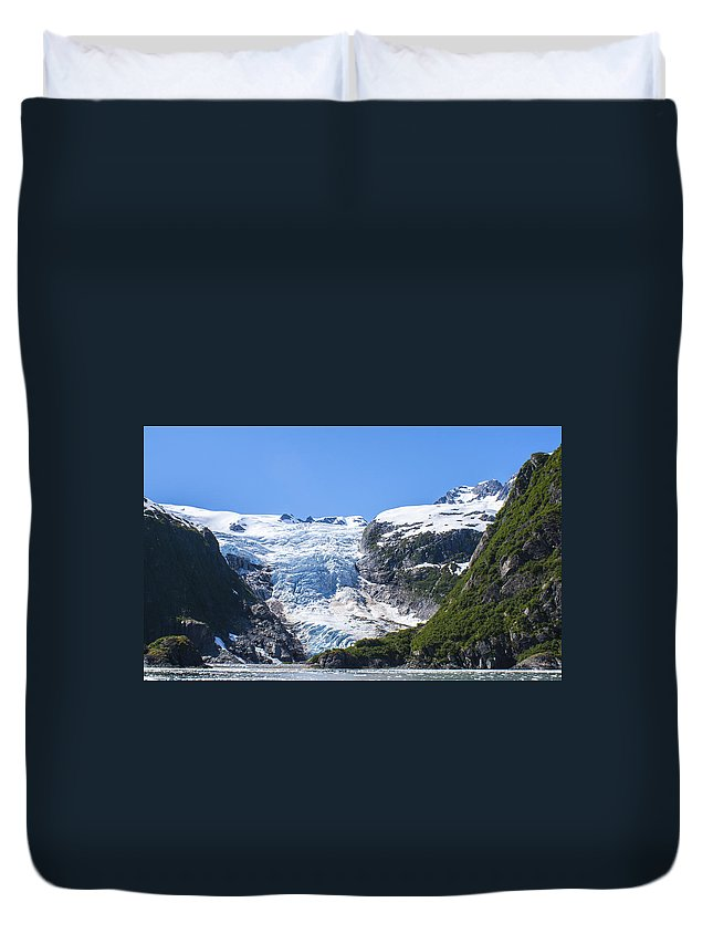 Alaska Duvet Cover featuring the photograph Kenai Fjords by Kyle Lavey