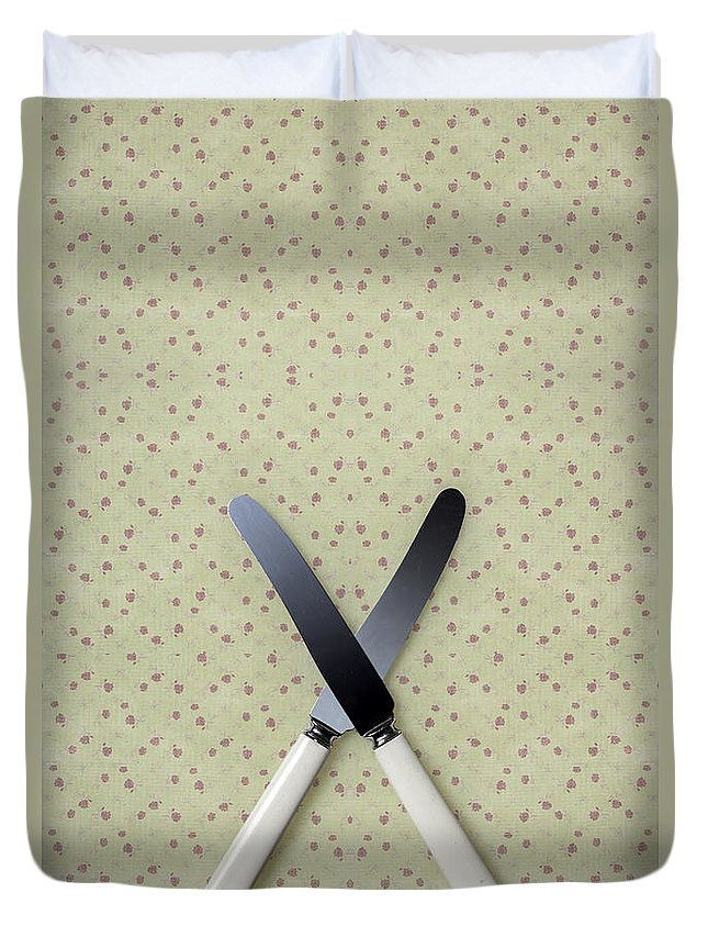 Knife Duvet Cover featuring the photograph Knives by Joana Kruse