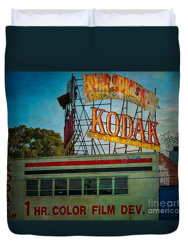 Kodak Duvet Cover featuring the photograph Kodak's Moment by Doug Sturgess
