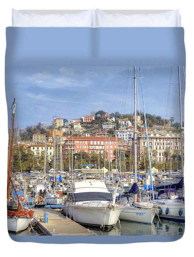 La Spezia Duvet Cover featuring the photograph La Spezia by Joana Kruse