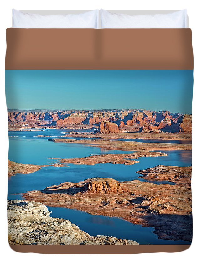 Tranquility Duvet Cover featuring the photograph Lake Powell by Chen Su