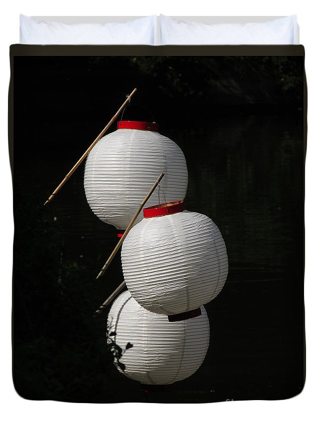 Lanterns Duvet Cover featuring the photograph Lanterns by Jamie Smith