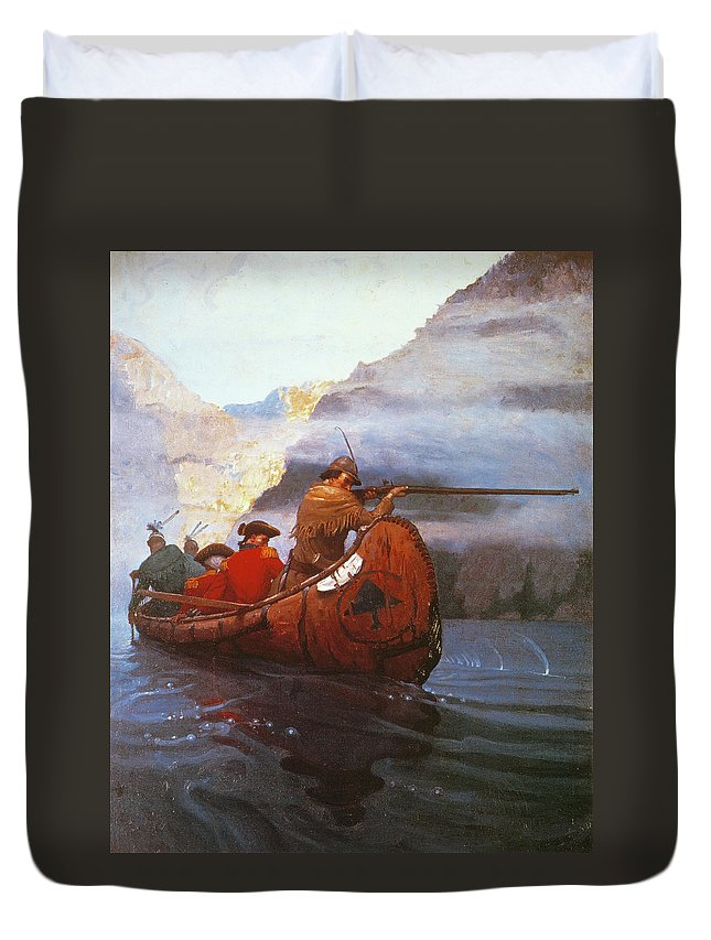 1757 Duvet Cover featuring the drawing Last Of The Mohicans, 1919 by Granger