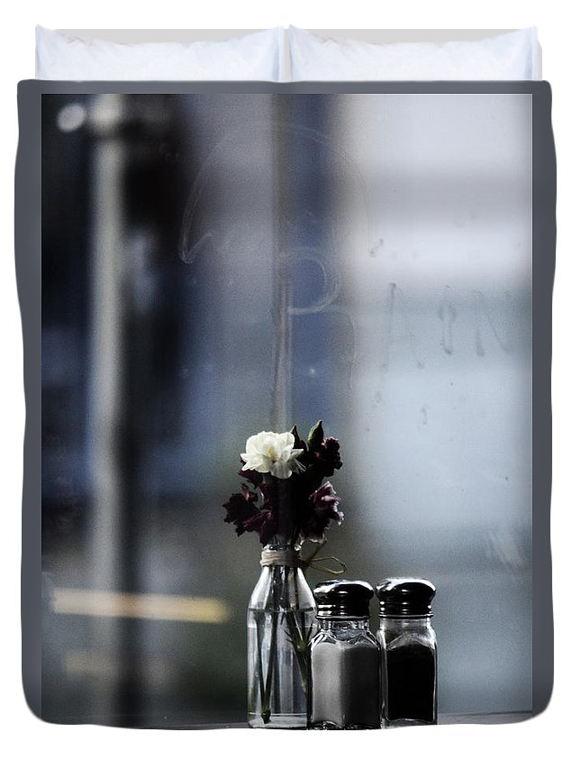 Street Photography Duvet Cover featuring the photograph Late Date by The Artist Project