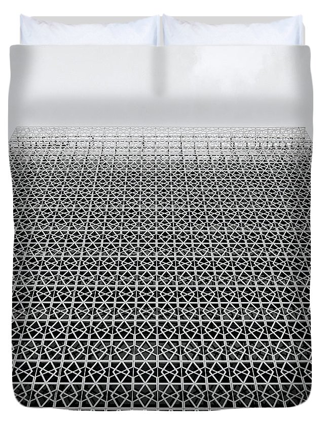 Putrajaya Duvet Cover featuring the photograph Latticework by Shaun Higson