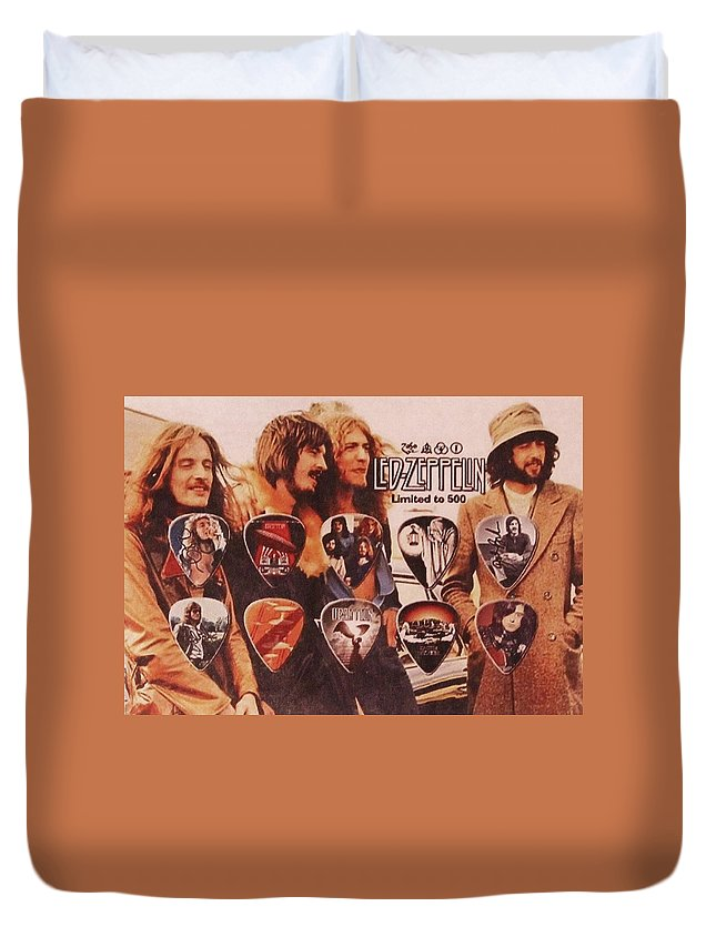 Led Zeppelin Duvet Cover featuring the photograph Led Zeppelin Art by Donna Wilson