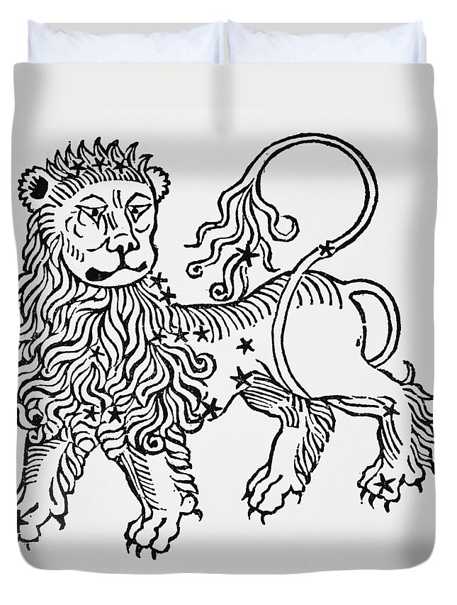 Leo Duvet Cover featuring the drawing Leo by Italian School