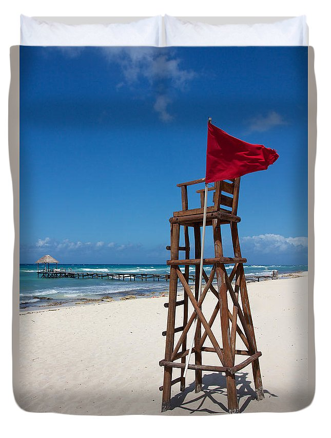 Abandoned Duvet Cover featuring the photograph Lifeguard by Jannis Werner