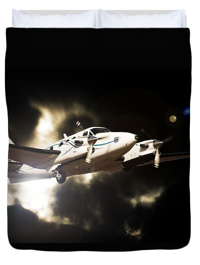 Aviation Duvet Cover featuring the photograph Light by Paul Job