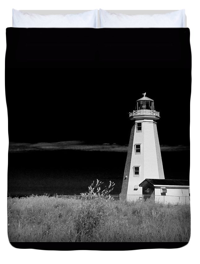Art Duvet Cover featuring the photograph Lighthouse At North Cape On Pei by Randall Nyhof