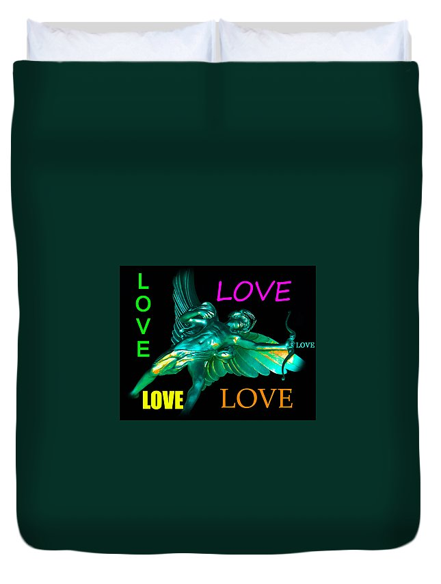 Love Duvet Cover featuring the photograph Love by David Lee Thompson