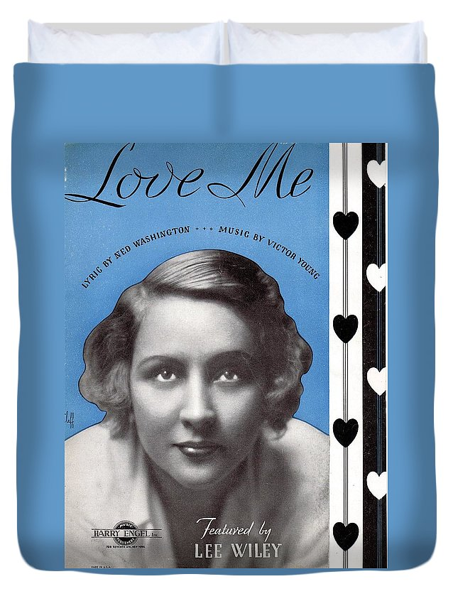 Nostalgia Duvet Cover featuring the photograph Love Me by Mel Thompson