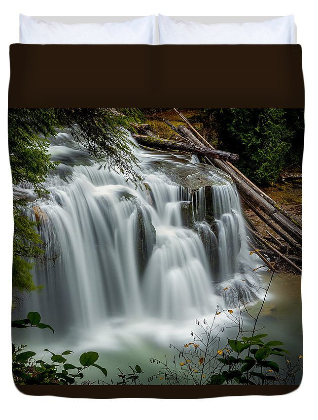 Lower Lewis Falls Duvet Cover featuring the photograph Lower Lewis Falls 2 by Mike Penney
