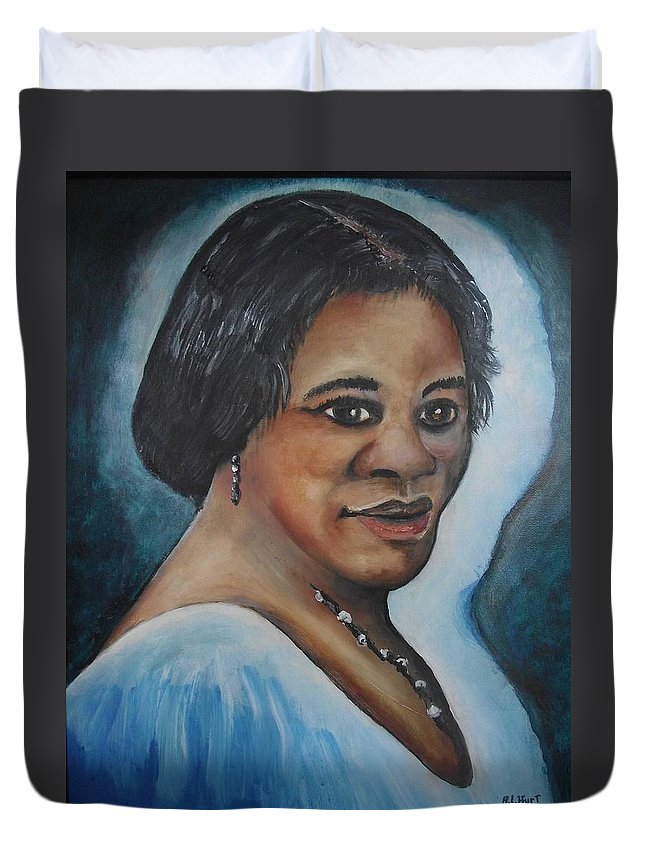 Black History Month Duvet Cover featuring the painting Madam C.j. Walker by Anthony Hurt