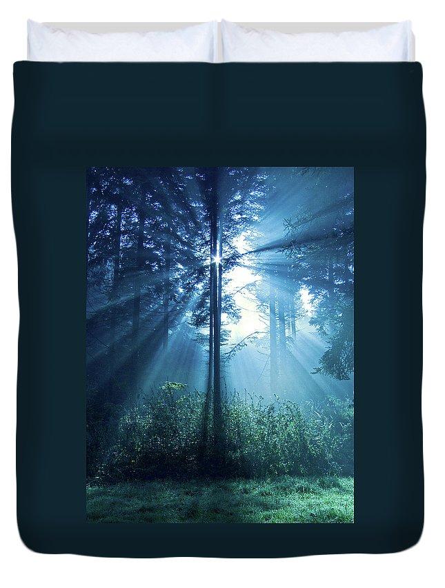 Nature Duvet Cover featuring the photograph Magical Light by Daniel Csoka