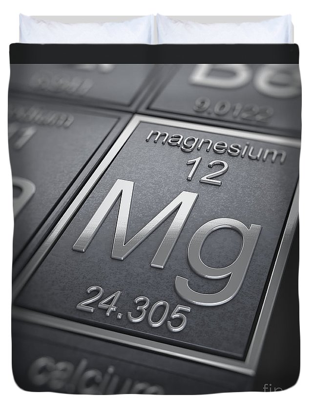 Magnesium Duvet Cover featuring the photograph Magnesium Chemical Element by Science Picture Co