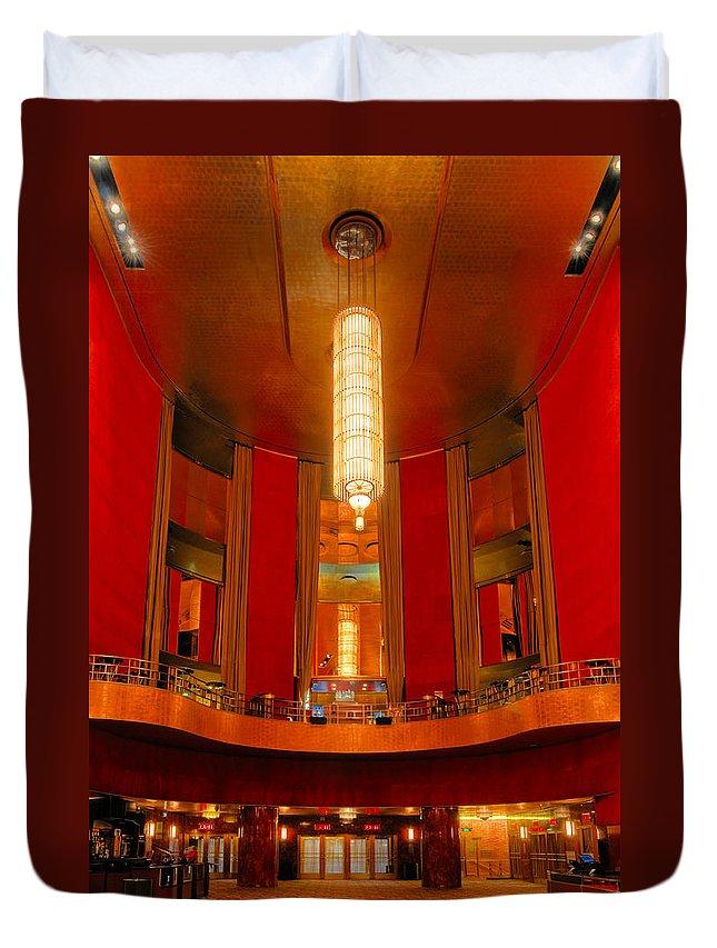 Radio City Music Hall Duvet Cover featuring the photograph Main Lobby Radio City Music Hall by Dave Mills