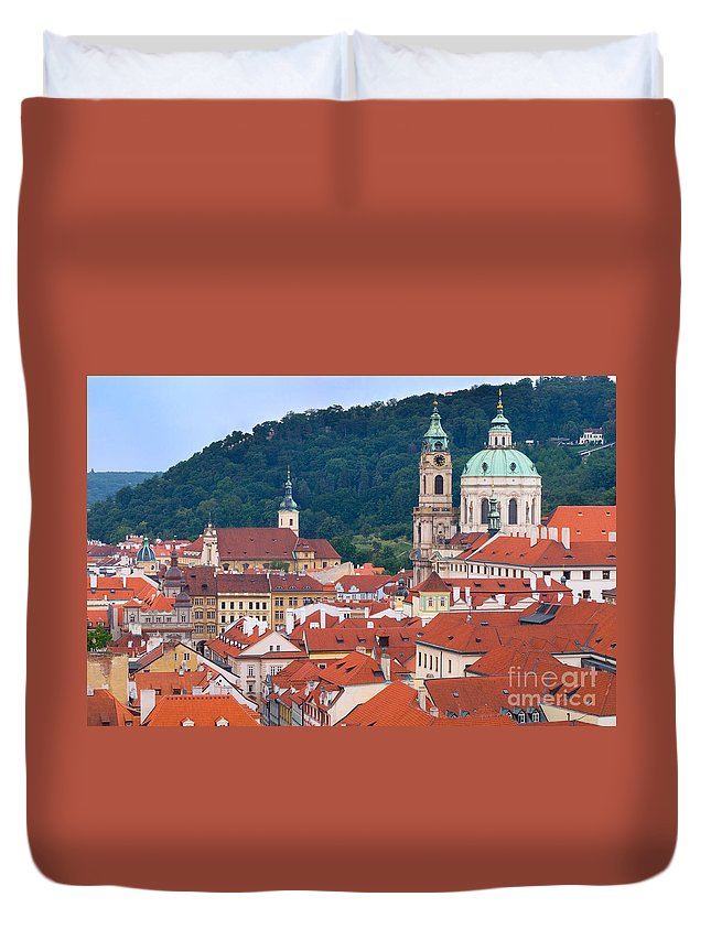Mala Duvet Cover featuring the photograph Mala Strana In Prague by Michal Bednarek