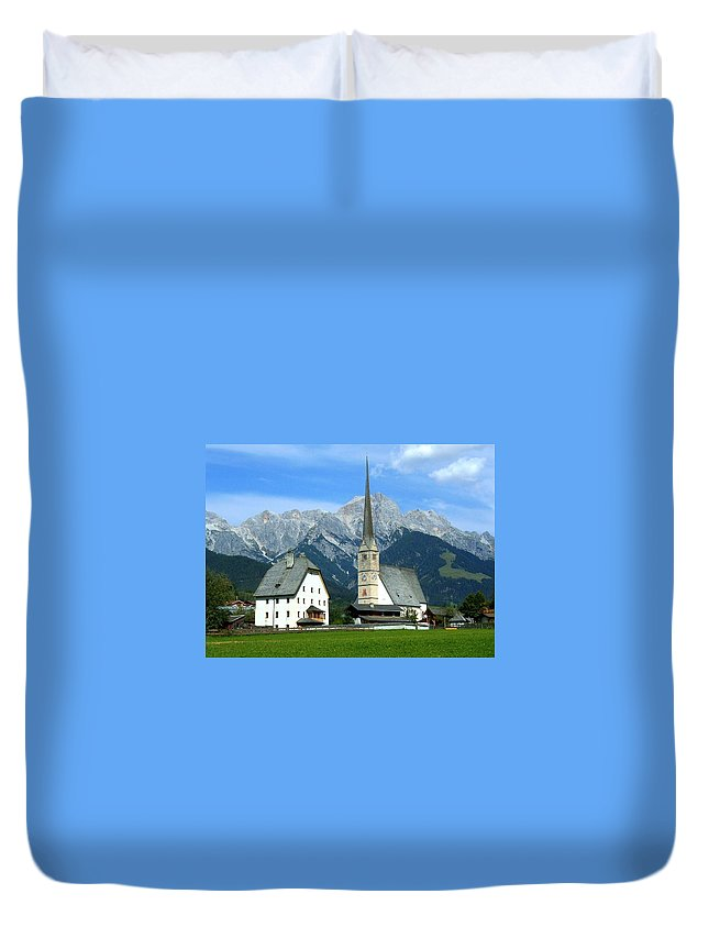 Europe Duvet Cover featuring the photograph Maria Alm by Juergen Weiss