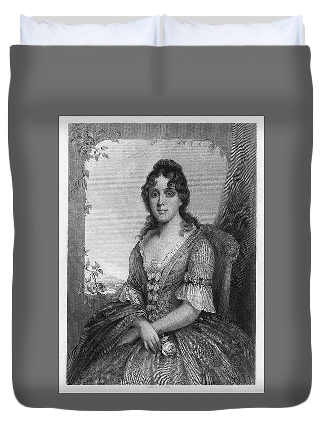 19th Century Duvet Cover featuring the painting Martha Jefferson Randolph (1772-1836) by Granger