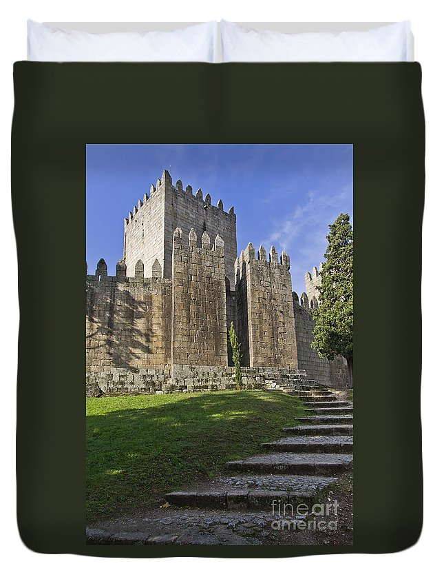 Medieval Duvet Cover featuring the photograph Medieval Castle Keep by Jose Elias - Sofia Pereira