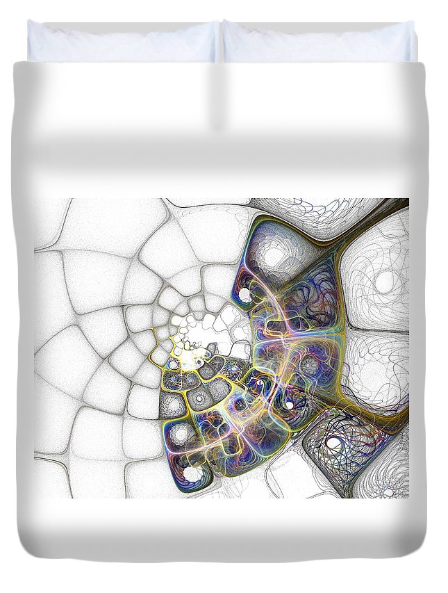 Digital Art Duvet Cover featuring the digital art Memories by Amanda Moore
