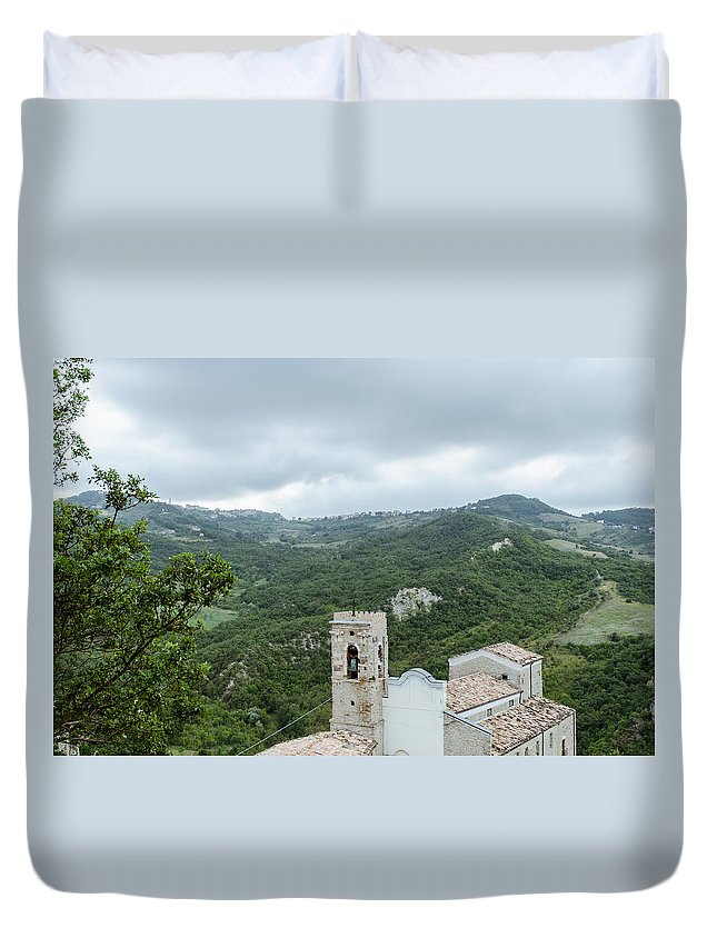 Landscape Duvet Cover featuring the photograph Memories by Andrea Mazzocchetti