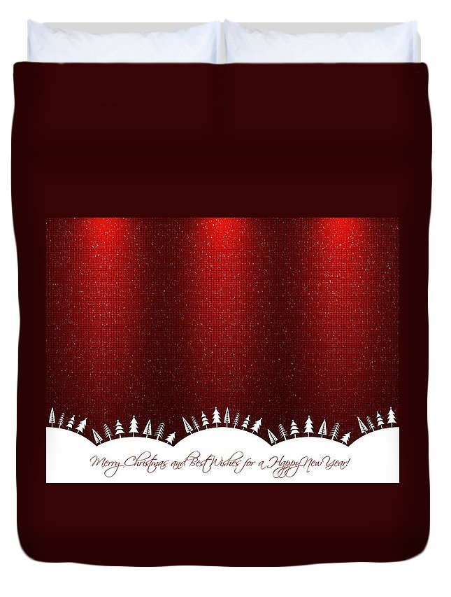 Festival Duvet Cover featuring the photograph Merry Christmas by Heike Hultsch